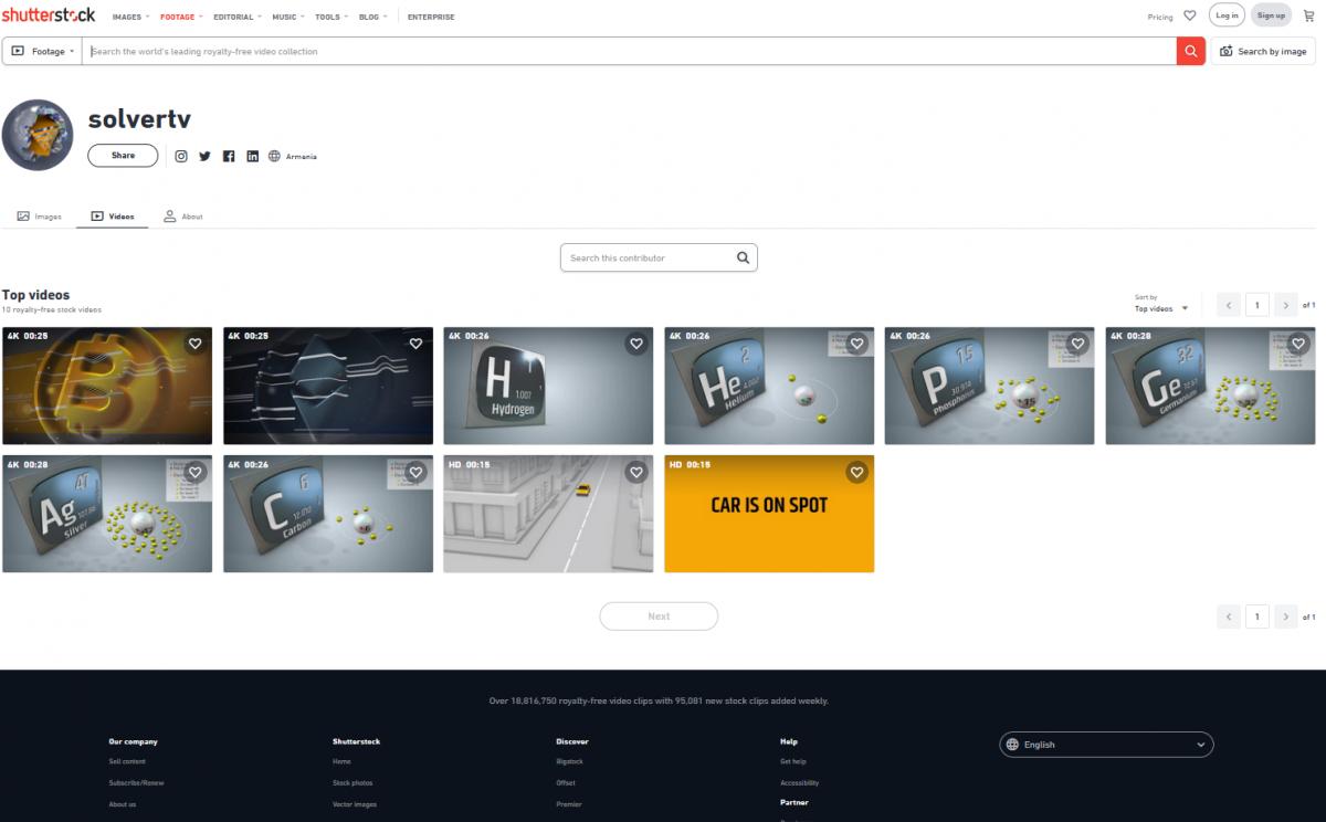 Shutterstock portfolio